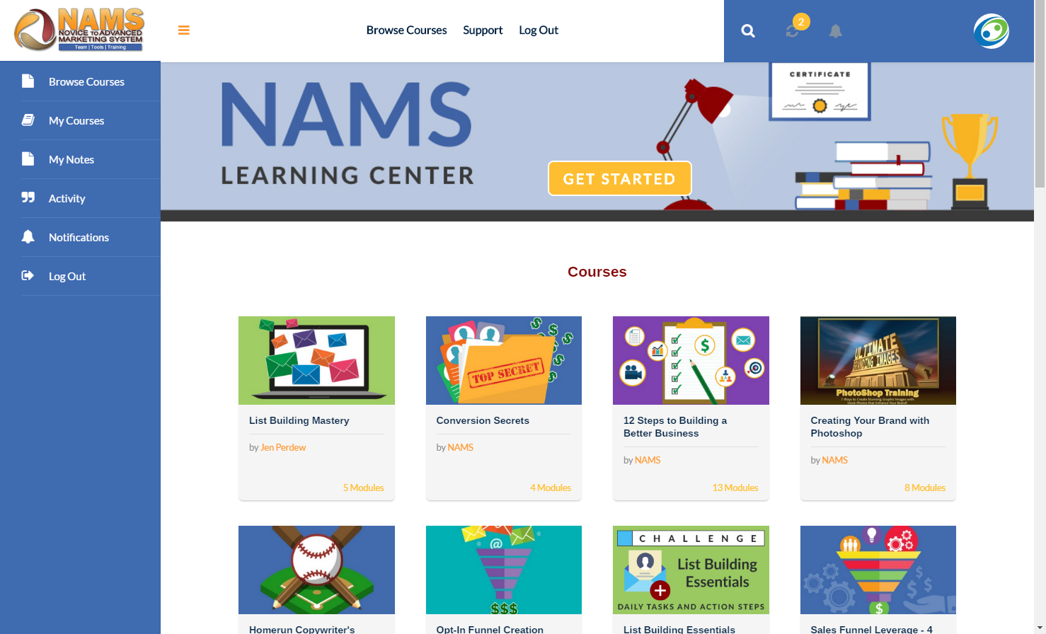 NAMS Learning Center