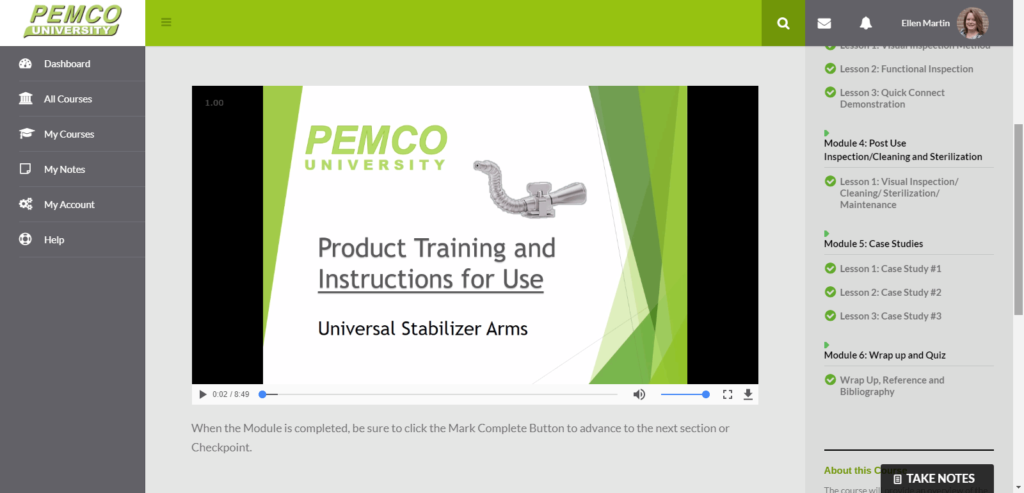Pemco - lesson screenshot